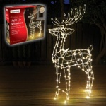 115CM, 250LED Copper Wire Standing Reindeer