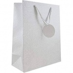 ED GIFT BAGS, SILVER CELEB BAGS LARGE (YAJGB13L) PACK 6