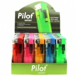 Pilot C/R Electronic Gas Lighter Refillable Box 50