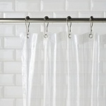 CLEARANCE S/Soft Plastic Shower Curtain-OGG Sold as Seen, NO RETURN ACCEPTED