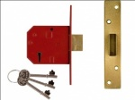Union 5 Lever Dead Lock Brass 67mm (Insur Approv) (Y-2134E-PL-2.50)