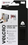 Velcro Heavy Duty Stick On Strips 50mm x 20cm black (EC60239)