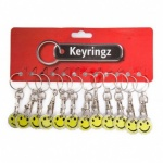 Trolley Coin Key Ring Smiley Face - Pack of 12