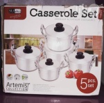 Set 5 Aluminium Casseroles