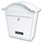 Sterling Classic Post Box White