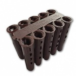 8mm Wall Plug Box Of 50 (1000plugs) - Brown