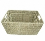 Set 3 Seagrass Baskets/Handle