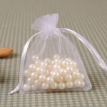 ORGANZA FAVOUR BAG-WHITE LACE 10Pcs
