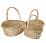 Set of 3 Natural Oval Steam Multi-Purpose Storage Basket
