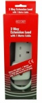 Red/Grey 2 Gang 13 Amp 2Mtr. Extension Lead Boxed C78