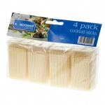 Kingfisher 4 x 100 Packs of Wooden Cocktail Sticks [KC200CSA]