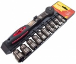 Am-Tech 11pc 1/2'' Dr. Metric Socket Set (I0370)