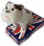 CLEARANCE Union Jack Nodding Bulldog On Platform Sold as Seen, NO RETURN ACCEPTED