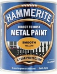 Hammerite Metal Paint Smooth Yellow 750ml