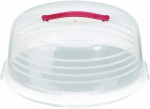 Curver Chef at Home Cake Storage - Round Clear/ White Base/ Red Handle