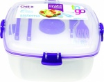 Sistema Klip It Chill It To Go Clear Lunch Box (21377)