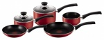 Tefal Bistro Red Lacquered Non-Stick 5pc Cookset