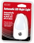 Red/Grey Automatic LED Night Light E12